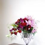お花を前に飛び出させて立体的に仕上げる