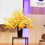 卒業式 演台花