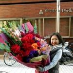 星野仙一元監督へお誕生日御祝い花を作成させてもらいました。