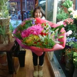 SBIホールディングの北尾社長へ贈呈用花束