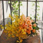 シンプルアレンジ 少ない花材で作成がコツ