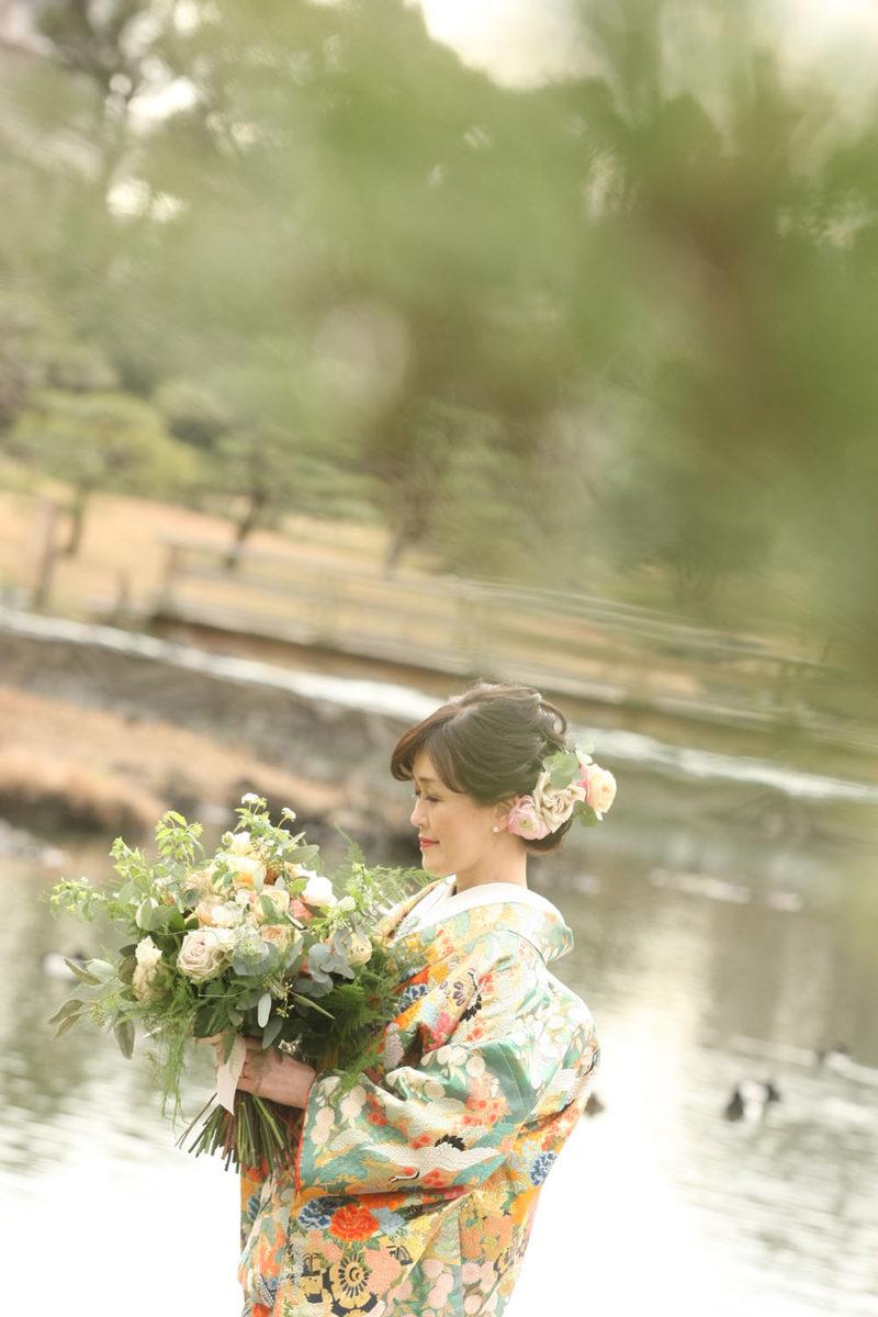 結婚式和装ブーケ