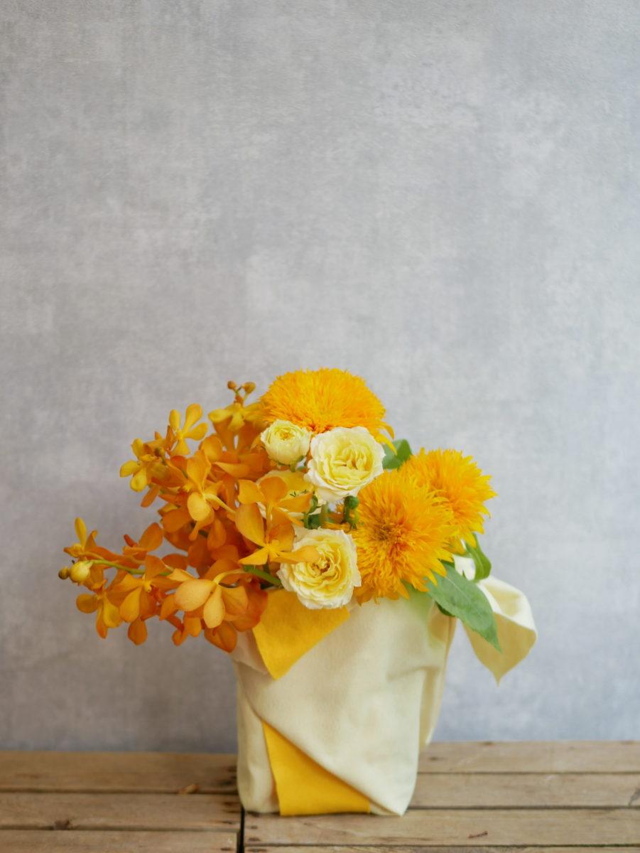 黄色アレンジ