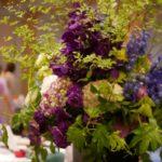 食器の展示会 会場装花